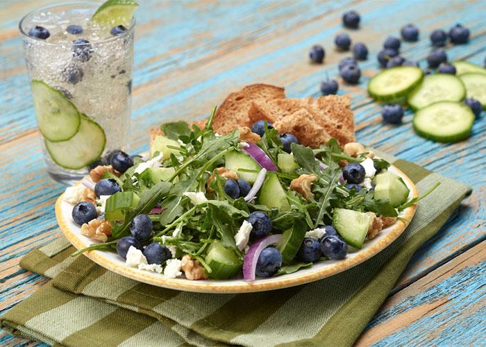 Cucumber Blueberry Salad
