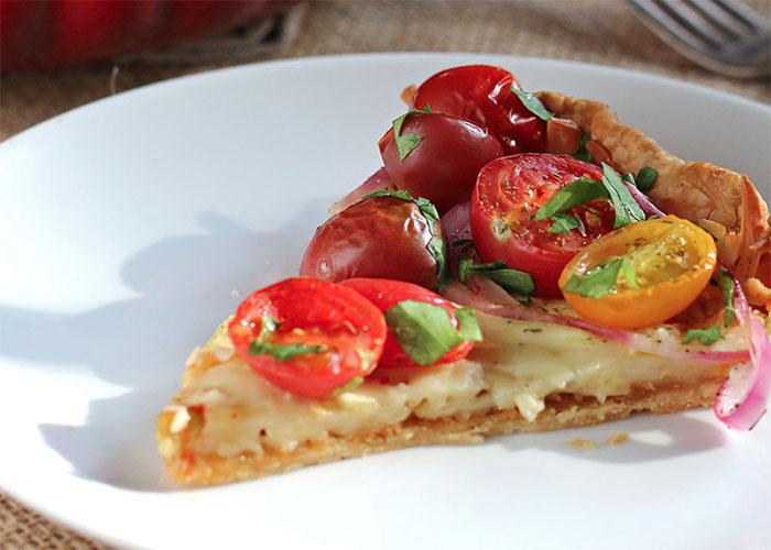 Tomato, Zucchini & Red Onion Tart