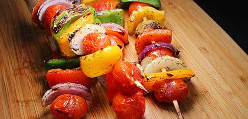 Grilled Veggie Kebab with Vidalia Onion