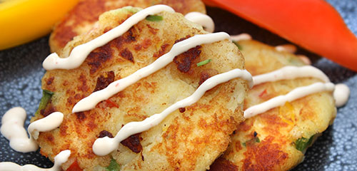 Pepper Potato Pancakes