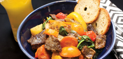 Beer Beef and Tomato Stew