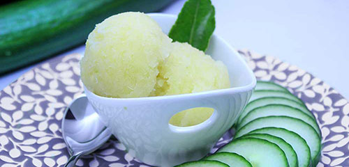 Cucumber Lime Sorbet