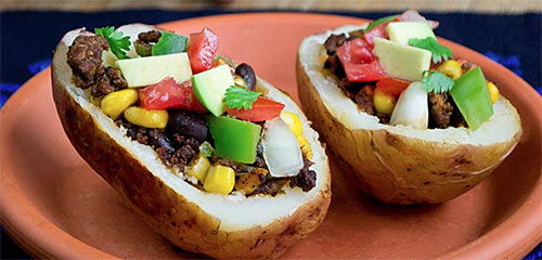 Fiesta Baked Potatoes